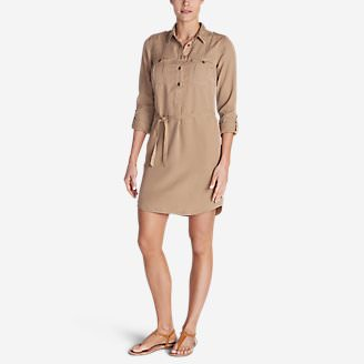 Women's Tranquil Shirt Dress - Solid in Beige