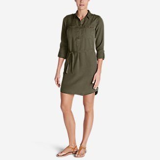 Women's Tranquil Shirt Dress - Solid in Green