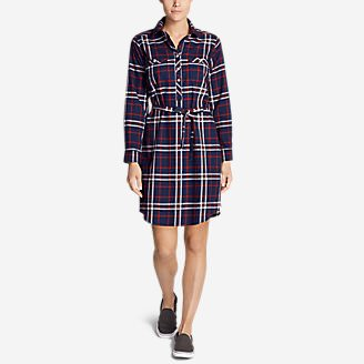 Women's Stine's Favorite Flannel Shirt Dress in Blue