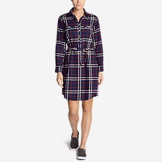 Women's Stine's Favorite Flannel Shirt Dress in Blue