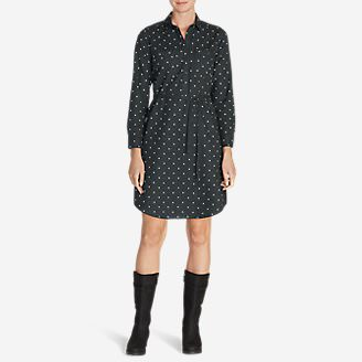 Women's Stine's Favorite Flannel Shirt Dress in Gray