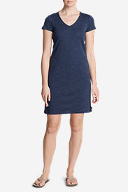 Women's Jet Set Short-Sleeve T-Shirt Dress in Blue