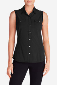 Women's Departure Sleeveless Shirt in Black