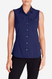 Women's Departure Sleeveless Shirt in Blue