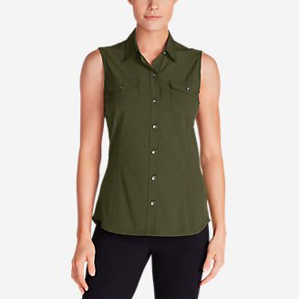 Women's Departure Sleeveless Shirt in Green