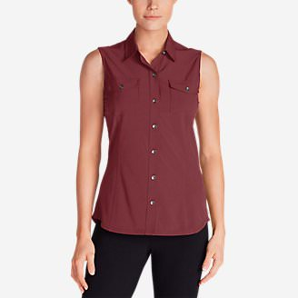 Women's Departure Sleeveless Shirt in Red