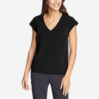 Women's Departure Short-Sleeve V-Neck T-Shirt in Black