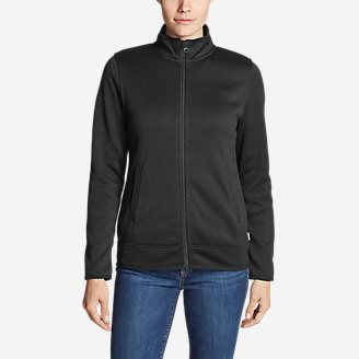 Women's Radiator Fleece Full-Zip Jacket in Black