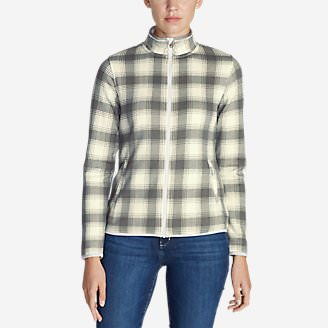 Women's Radiator Fleece Full Zip Jacket - Plaid in White