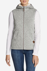 Women's Radiator Fleece Hooded Vest in Gray