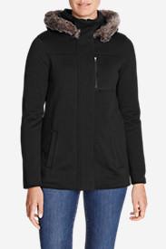 Women's Radiator Fleece Hooded Jacket in Black