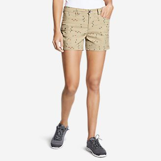 Women's Horizon One Cargo Pocket Shorts - Print in Beige