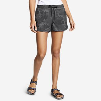 Women's Departure Amphib Shorts - Print in Black