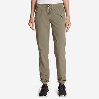 Women's Horizon Adjustable Jogger Pants in Beige