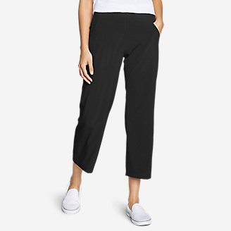 Women's Departure Wide-Leg Crop Pants in Black