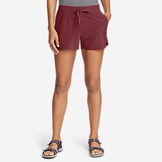 Women's Departure Amphib Shorts in Red