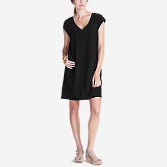 Women's Departure T-Shirt Dress in Black