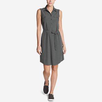 Women's Departure Sleeveless Shirt Dress in Gray
