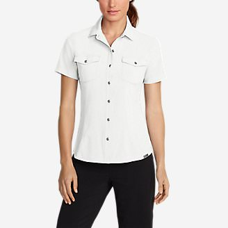 Women's Departure Short-Sleeve Shirt in White