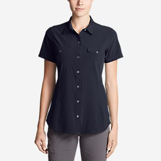 Women's Departure Short-Sleeve Shirt in Blue