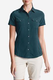 Women's Departure Short-Sleeve Shirt in Blue