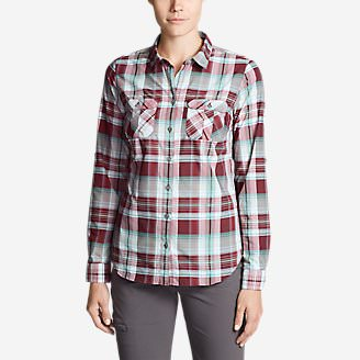 Women's Mountain Long-Sleeve Shirt in Red