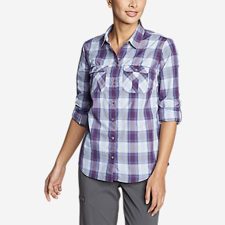 Women's Mountain Long-Sleeve Shirt in Purple