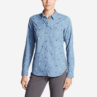 Women's Mountain Long-Sleeve Shirt in Blue