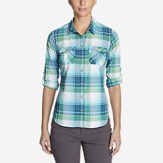 Women's Mountain Long-Sleeve Shirt in Blue