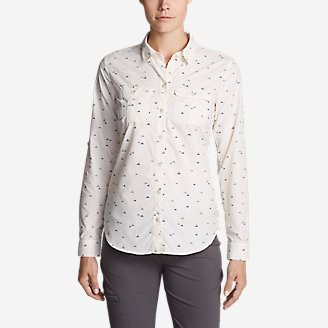 Women's Mountain Long-Sleeve Shirt in White