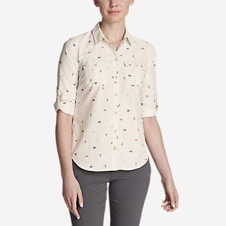Women's Mountain Long-Sleeve Shirt in White