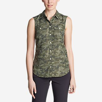 Women's Mountain Sleeveless Shirt in Green