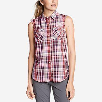 Women's Mountain Sleeveless Shirt in Red
