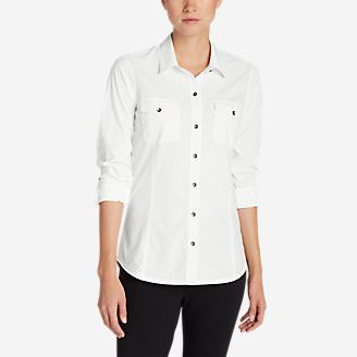 Women's Departure Long-Sleeve Shirt in White