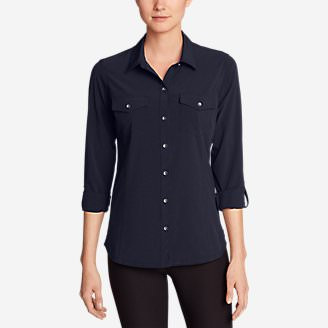 Women's Departure Long-Sleeve Shirt in Blue