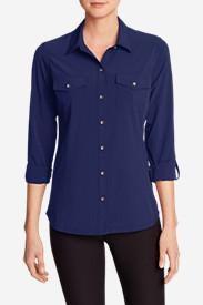 Women's Departure Long-Sleeve Shirt in Blue