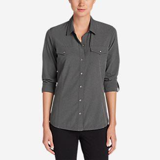 Women's Departure Long-Sleeve Shirt in Gray