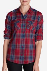 Women's Eddie Bauer Expedition Performance Flannel Shirt in Red
