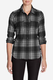 Women's Expedition Flex Flannel Shirt in Gray