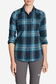 Women's Expedition Flex Flannel Shirt in Blue