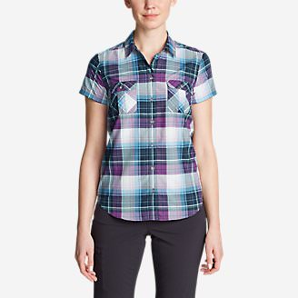 Women's Mountain Short-Sleeve Shirt in Purple