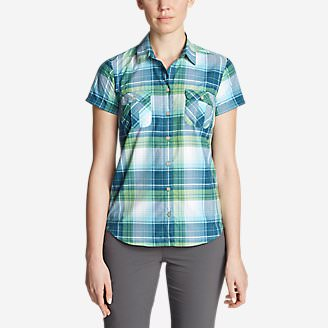 Women's Mountain Short-Sleeve Shirt in Blue