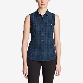 Women's Departure Sleeveless Shirt - Print in Blue
