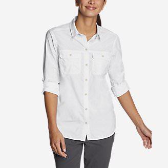 Women's Atlas Exploration Boyfriend Cargo Shirt in White
