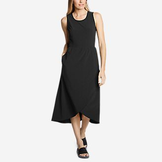 Women's Departure Midi Tank Dress in Black