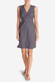 Women's Aster Tie The Knot Dress - Print in Blue