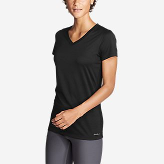 Women's Resolution V-Neck T-Shirt in Black
