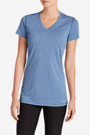 Women's Resolution V-Neck T-Shirt in Blue