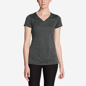 Women's Resolution V-Neck T-Shirt in Gray