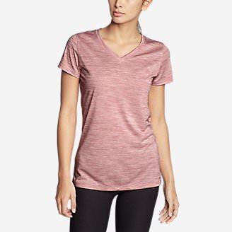 Women's Resolution V-Neck T-Shirt in Red